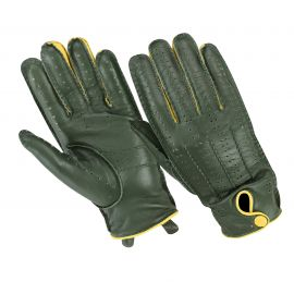 ORIGINAL DRIVER GLOVES NAPPA CACHEMIRE GREEN/YELLOW