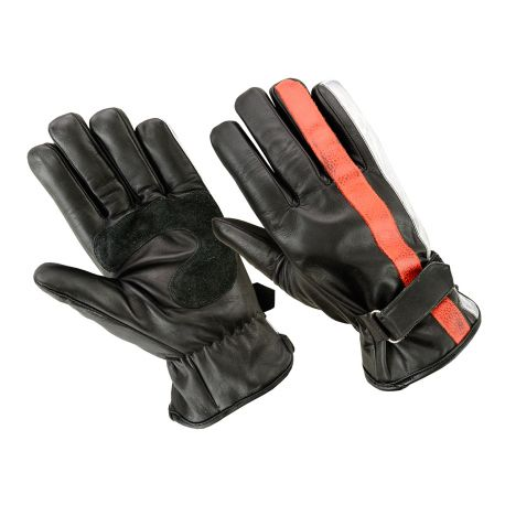 GANTS ORIGINAL DRIVER - NATION NOIR ORANGE BLANC