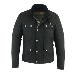 THE MONTE CARLO WAX (Black) JACKET - ORIGINAL DRIVER