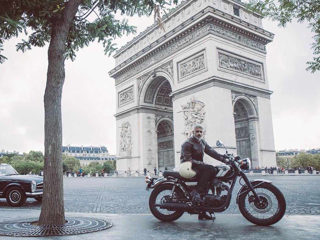 Blouson moto en cuir d'Italie - Le Saint Germain