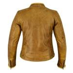 Blouson moto en cuir pour femme : Le Marion couleur Camel