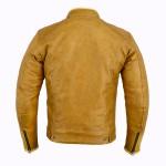 Blouson Moto Saint Germain de dos couleur caramel